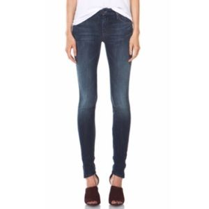 MOTHER The Looker Deja Vu Skinny Jeans Mid Rise
